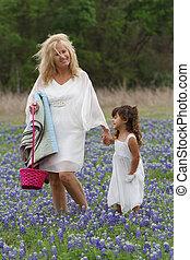 Easter TX Bluebonnets Stroll
