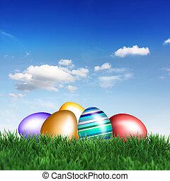 Easter under blue sky