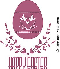 Easter vector composition. Vector image. Silhouette isolated from the background.