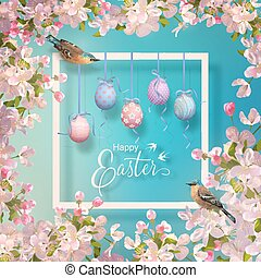 Easter Vector Frame