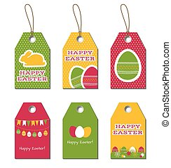 Easter gift tags and cards template of easter greeting vectors easter vector tags negle Gallery