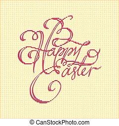 Easter vintage card. Vector illustration