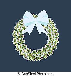 Easter wreath illustration