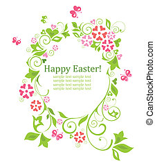 Easter wreath with egg shape