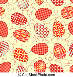 Easter yellow seamless pattern.