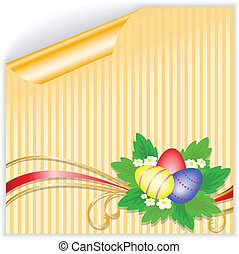 Easter yellow sticker