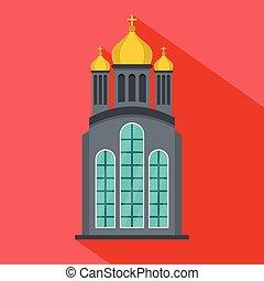 Eastern church icon, flat style - Eastern church icon. Flat...