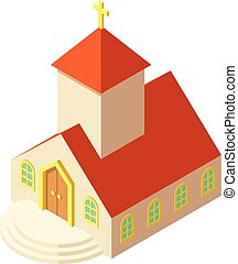 Eastern church icon, isometric style - Eastern church icon....