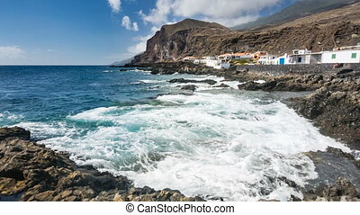 Eastern Coastline In La Palma, Spain - Rocky lava coastline...