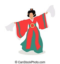 Eastern Dancer Isolated. Folk Dance Concept. Vector