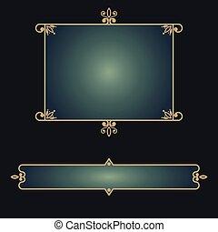 Eastern decorative frame design