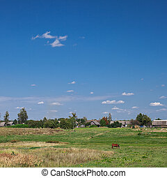 Eastern europe countryside rural landscape