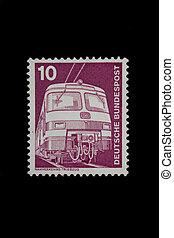 eastern germany postage stamp on the black