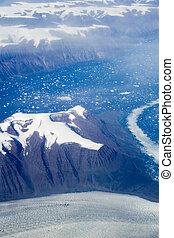 Eastern Greenland - Aerial shot of eastern Greenland