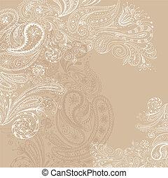Eastern hand drawn background - Eastern beige hand drawn...