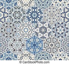 Eastern seamless pattern tiles
