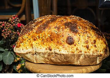 Eastern Turkish homemade bread traditional homemade bread