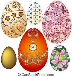 easter`s, huevos, conjunto