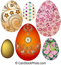 easter`s, oeufs, ensemble