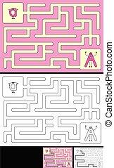Easy alphabet maze - letter A - Easy alphabet maze for kids ...