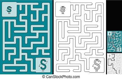 Easy alphabet maze - letter S - Easy alphabet maze for kids ...