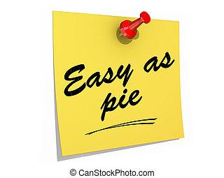 Easy As Pie White Background