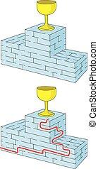 Easy award podium maze