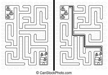 Easy bees maze