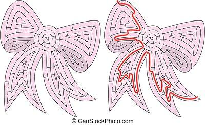 Easy bow maze