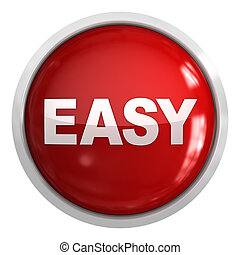 Easy button , isolated on white.