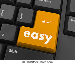 easy button - keyboard with easy button