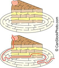 Easy cake maze - Easy slice of cake maze for younger kids...