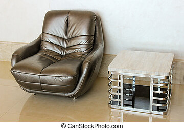 Easy chair and coffee table