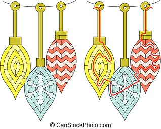 Easy Christmas ornament maze