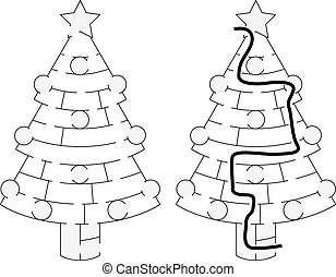 Easy Christmas tree maze