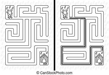 Easy dog maze