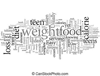 easy free loss teen weight text background wordcloud concept