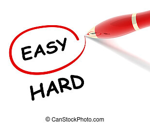 easy hard concept illustration