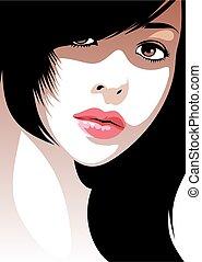 nice girl - easy head of very nice girl from my dream