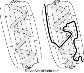 Easy hot dog maze