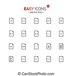 Easy icons 34a File types