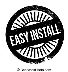 Easy install stamp. Grunge design with dust scratches....
