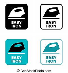 Easy iron and glide information sign