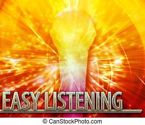 Easy Listening musc abstract concept digital illustration