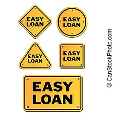 easy loan signs