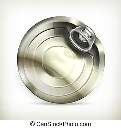 Easy open can, vector