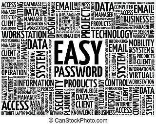 Easy Password word cloud