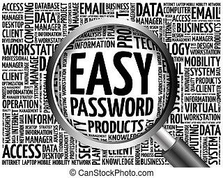 Easy Password word cloud