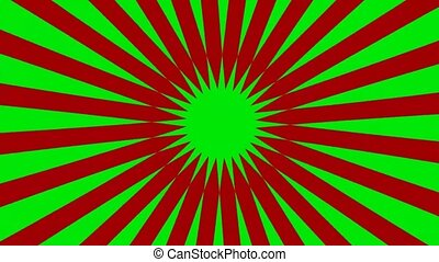 easy radial ray background - green screen