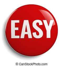 Easy Red Button 3D Symbol